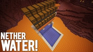 getlinkyoutube.com-Minecraft: Water In The Nether Using Redstone
