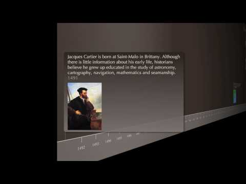 Timeline : Trips of Jacques Cartier [English]