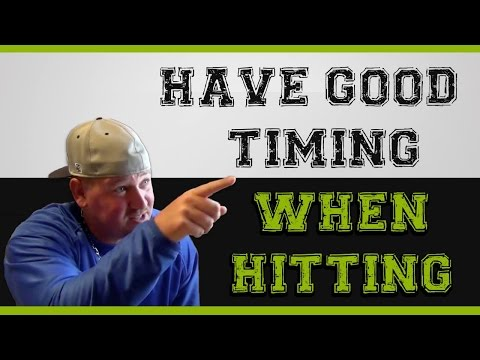 How to have good TIMING in hitting a baseball