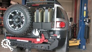 getlinkyoutube.com-Installing Metal Tech FJ Cruiser Red Eye Bumper