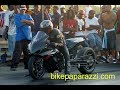 """Pt.2 """"SLICK"""" upsets GAS MONKEY @  Motorcycle STREET TIRE SHOOT-OUT in BATTLE on Da Mountain"""