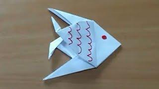 getlinkyoutube.com-Comment faire un poisson en origami - Poisson en papier