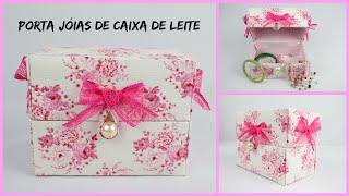 getlinkyoutube.com-Do Lixo ao Luxo  - Porta jóias (ou porta esmalte) feito de Caixa de Leite - Inédito