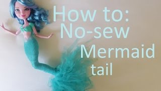 getlinkyoutube.com-Clothes Tutorial: No-sew mermaid tail for your Ever After High dolls by EahBoy