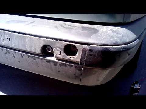 Снятие заднего бампера BMW e34. Часть 1