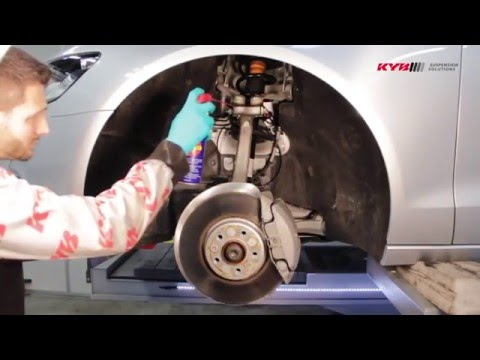 AUDI A6 и A7 - Front - Передние амортизаторы KYB установка