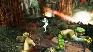 getlinkyoutube.com-Star Wars Battlefront 1 gameplay Endor Galactic Civil War Mission 9