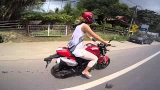 getlinkyoutube.com-Demon GPX 125 - Nicky Singha Bell - Koh Samui Thailand