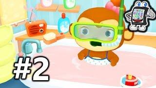 getlinkyoutube.com-DR. PANDA BADEZEIT Deutsch #2 - Spiel mit mir Apps - Affen Mädchen nimmt pinkes Bad