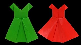 getlinkyoutube.com-طريقة عمل فستان من الورق   فن الاوريجامى   العاب ورقية للاطفال
