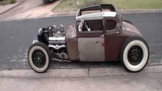getlinkyoutube.com-Model A Hot Rod- Caddy Powered Dreddybear's Coupe