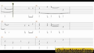 getlinkyoutube.com-Kiss The Rain - Yiruma Guitar Tab HD