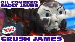 "getlinkyoutube.com-Thomas and friends ""James Crush | Oil Covered James"""
