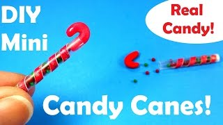 getlinkyoutube.com-DIY Miniature M & M Candy Canes (w Real Candies Inside)! - Christmas Holiday Craft
