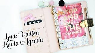 getlinkyoutube.com-Louis Vuitton Koala Agenda PM: Planner Setup!