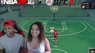 getlinkyoutube.com-GIRLFRIEND VS BOYFRIEND ! Jordan Vs The Clamp God! NBA 2k16 + UFC 2  Fights & Funny Moments