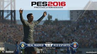getlinkyoutube.com-PES 2016: RCD Espanyol Vs. Real Madrid 0-6 All Goals 12/9/2015