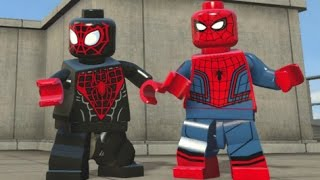 getlinkyoutube.com-LEGO Marvel's Avengers - All Spider-Man Characters (Spider-Man DLC Pack Free Roam)