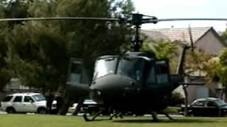 getlinkyoutube.com-Huey Startup Rossmoor Park, UH-1H Start-up California National Guard