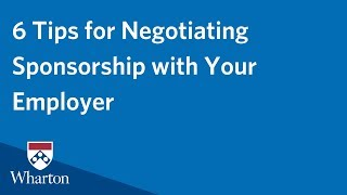 Negotiating Employer MBA Sponsorship
