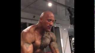 "getlinkyoutube.com-Dwayne "" The Rock "" Johnson Workout video 2013 ( complete Instagram workout video collection )"