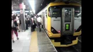 getlinkyoutube.com-2012年9月 E257系臨時快速「山梨ぶどう狩り号」 千葉行き 新宿駅到着