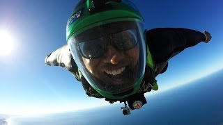 Feiyu Tech WG Gimbal Wingsuit Flying Test