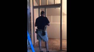 getlinkyoutube.com-Heavy Duty Pocket Door Frame Installation
