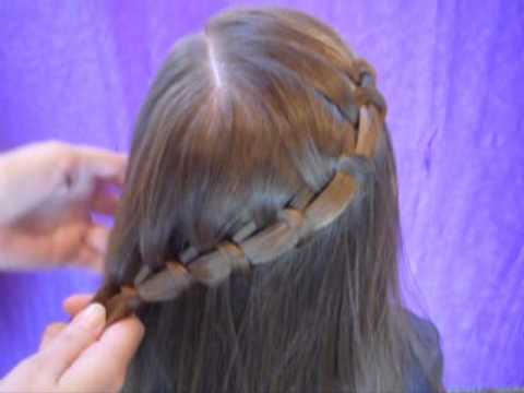 Video de side swept french fish braid hairstyle en youtube