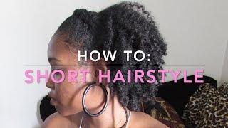 getlinkyoutube.com-Short Hairstyles: Braid with a Twist Out | RahKneeShuh