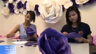 getlinkyoutube.com-Hoa hồng giấy (Handmade) - hoagiaynghethuat.com
