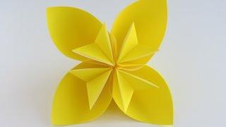 getlinkyoutube.com-Easy Origami Kusudama Flower