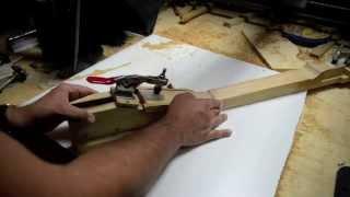 getlinkyoutube.com-Building a Les Paul LP Guitar Neck for a 59 Paulie Luthier Jigs Templates