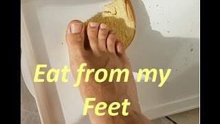Hungarian Foot Master   (Trample Food)  Eat From Male Feet