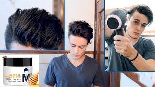 getlinkyoutube.com-Messy Pompadour - Mens Hair Tutorial & Hairstyle