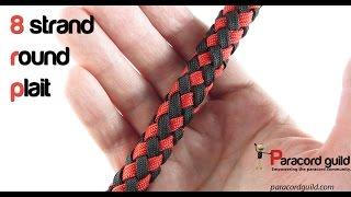getlinkyoutube.com-8 strand round plait around a core
