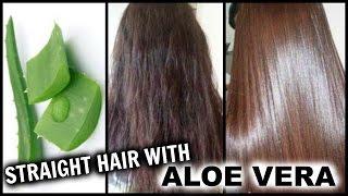 getlinkyoutube.com-Straighten Hair with Aloe Vera │ Natural Hair Straightening Gel at Home w/ Results │Hair Hack!!