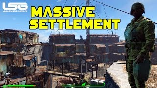 getlinkyoutube.com-Fallout 4 - Massive Castle Settlement (Tour)