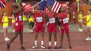 getlinkyoutube.com-American Men remain 4x400m World Champs - Universal Sports