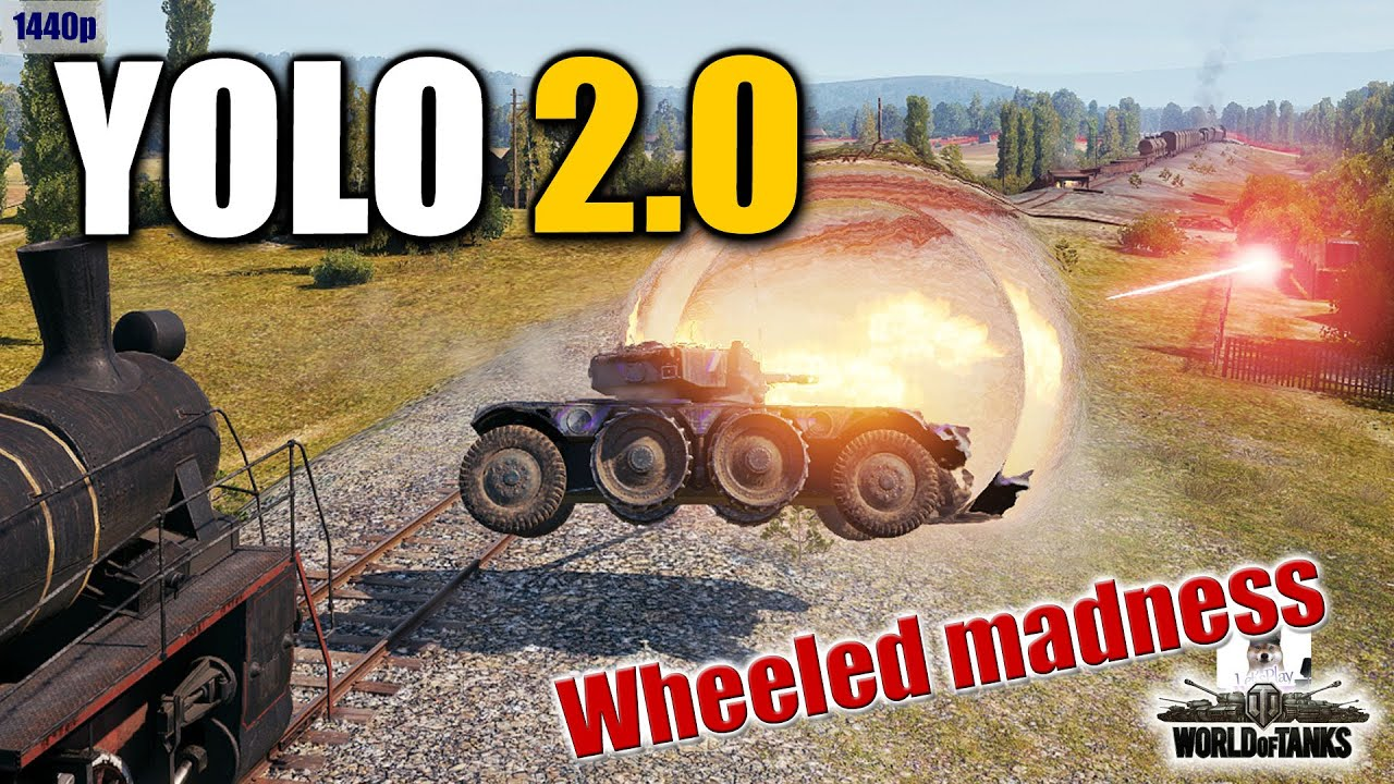Wheeled tanks in YOLO action  best World of Tanks games