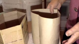 getlinkyoutube.com-Fabricacion de una forma de carton para cesteria de periodicos. Parte 2.