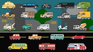 getlinkyoutube.com-Learning Street Vehicles - Street Cars and Trucks - Children's Educational Flash Card Videos