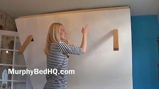 Murphy Bed - Homemade Murphy Bed PLAN (with storage) width=