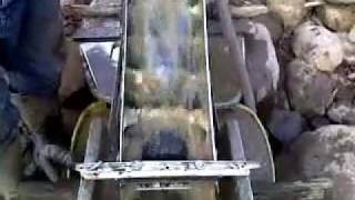 "getlinkyoutube.com-magnetic sluice box ""GolDymium Sluice Box"" in action"