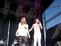 Demi Lovato and Selena Gomez at Dallas State Fair