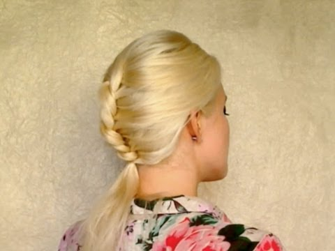 French rope braid tutorial Everyday heatless hairstyle for medium long hair