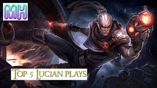 getlinkyoutube.com-Top 5 Lucian player highlight moment