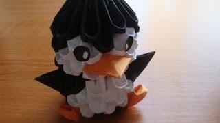 getlinkyoutube.com-3D origami penguin tutorial