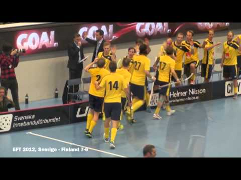 Sverige vs Finland 7-6, Euro Floorball Tour, 2012