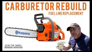 getlinkyoutube.com-Husqvarna 136 Chainsaw Carburetor Rebuild & Fuel Line Repair